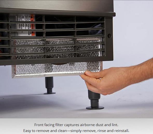 Manitowoc NEO UYF-0310W-161B - 320 lbs Half Dice Cube Water-Cooled Undercounter