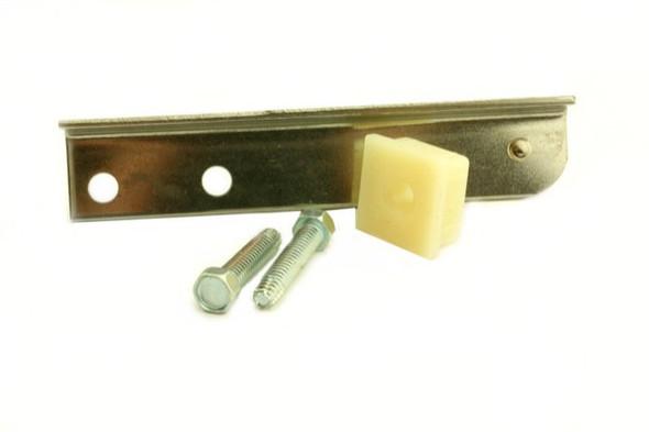 View of the edge on the True 870842 bottom door hinge