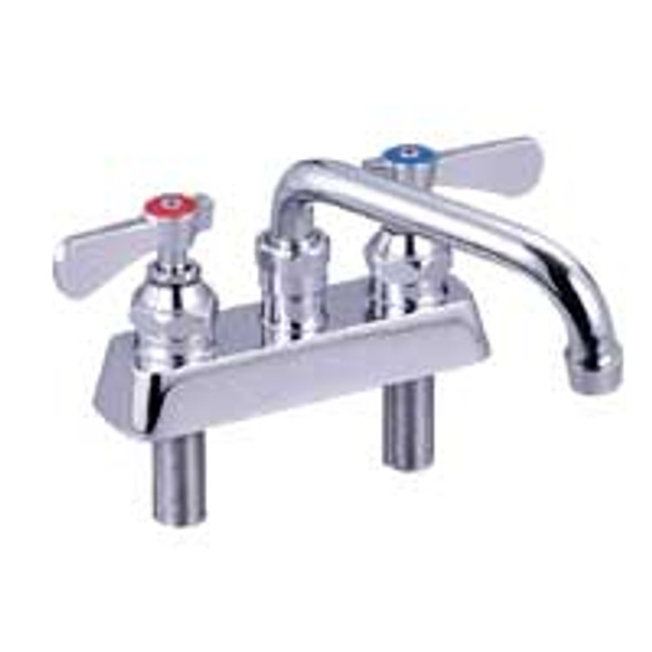 BK Resources BKF-4DM-10-G Deck Mount Faucet w/Swing Spout - Lead Free