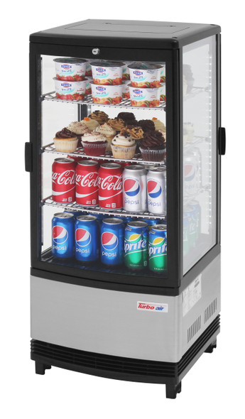 Turbo Air CRT-77-2R-N Refrigerated Diamond Show Case