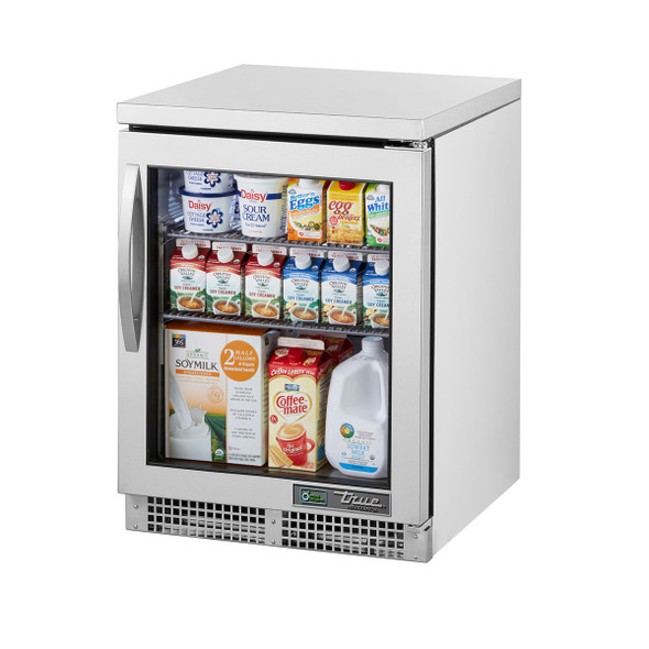 True's TUC-24G-HC~FGD01 Undercounter Refrigerator filled with food