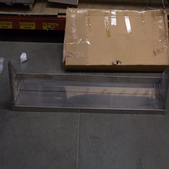 "SCRATCH AND DENT - EXCELLENT | Wall Mounted Double Bar Pot Rack w/ Shelf - 60"" x 15"" - PR-WS-1560-SS"