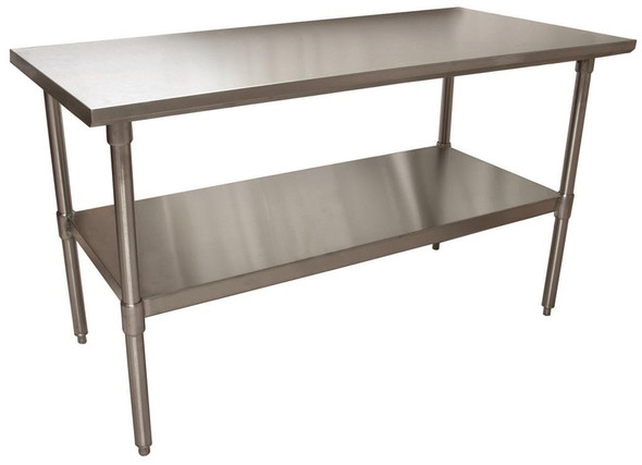 "BK Resources VTT-6030 - Stainless Steel Work Table - 60"" L x 30"" W"