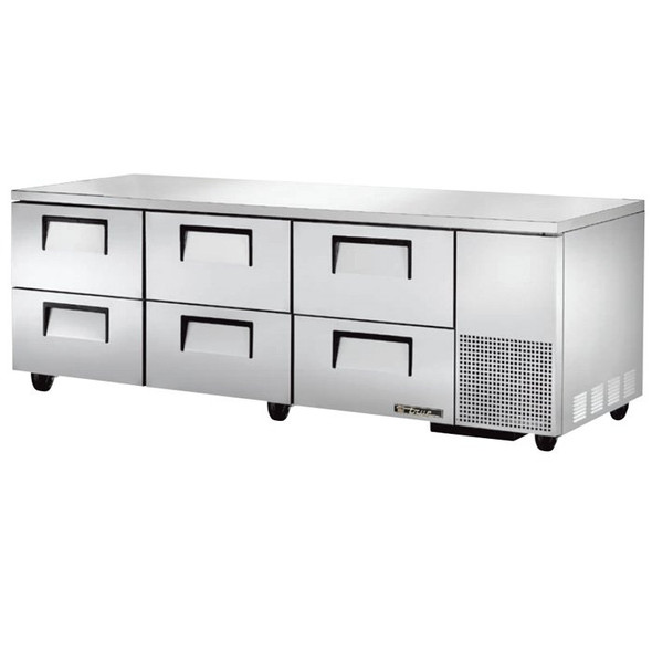 "TUC-93D-6 True 93"" 6 Drawer Undercounter Refrigerator"