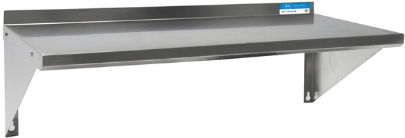 "BK Resources BKWS-1224 - T-304 Premium Stainless Wall Shelf 12"" x 24"""