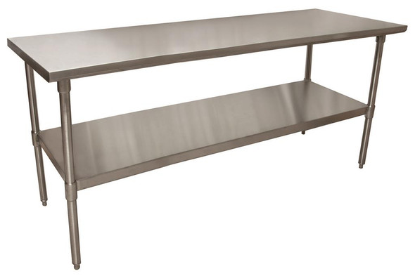 "BK Resources VTT-7230 - Stainless Steel Work Table - 72"" L x 30"" W"