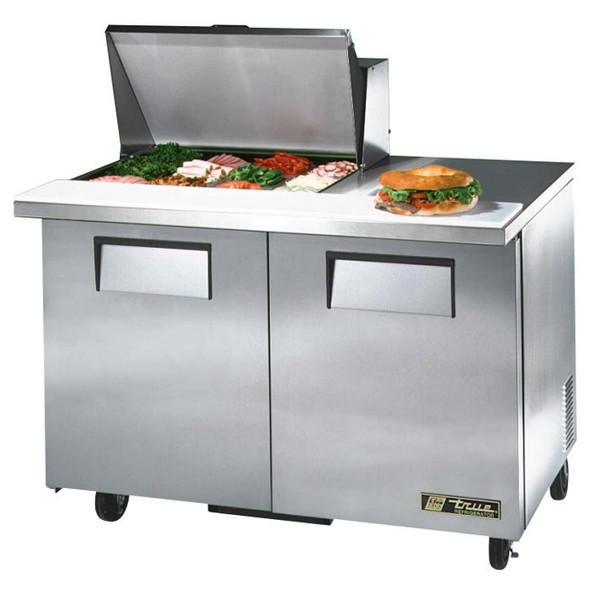 """TSSU-48-12M-B-ADA True 48"""" 12 Bin Sandwich/Salad Prep Table"""