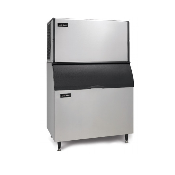 Ice-O-Matic 1,469 lb ICE1406 Ice Maker and 854 lb B110PS Storage Bin