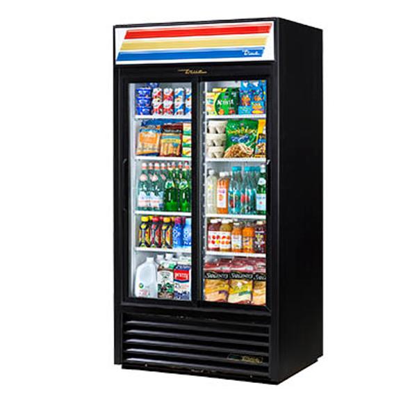 True GDM-33-HC-LD Refrigerated Sliding Glass Door Merchandiser