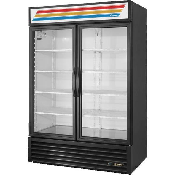 True GDM-49-HC~TSL01 Standard Glass Swing Door Merchandising Refrigerator