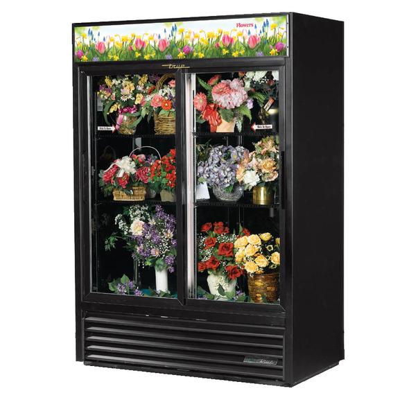 True GDM-47FC-HC-LD Glass SlidingTwo-Door Floral Case