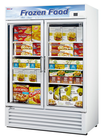 Turbo Air TGF-49F-N 39.8 Cu. Ft. Glass Door Freezer White