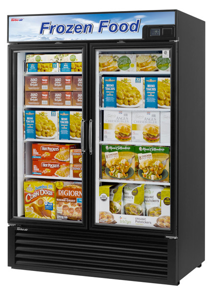Turbo Air TGF-49F-N 39.8 Cu. Ft. Glass Door Freezer Black
