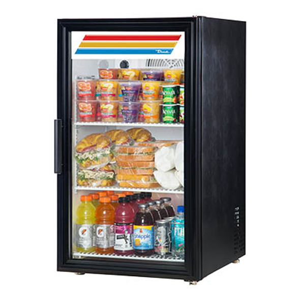 True GDM-06-HC~TSL01 Glass Swing Door Counter-Top Merchandising Refrigerator