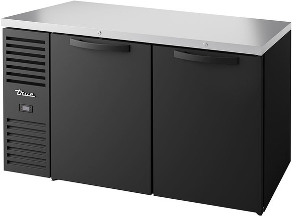 True's TBR60-RISZ1-L-B-SS-1  Food-Rated Back Bar Cooler from the front