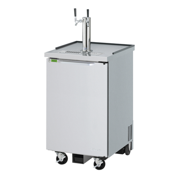 Turbo Air TBD-1SDD-N6 - Stainless Steel One Half Barrel Keg Beer Dispenser