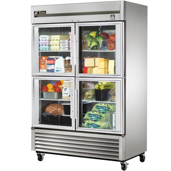 TS-49G-4 True 49 Cu. Ft. SS Refrigerator w/ 4 Glass Half Doors
