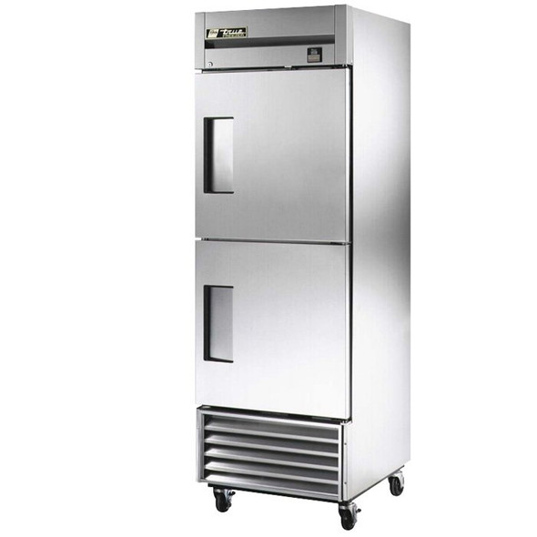 TS-23F-2 True 23 Cu. Ft. 2 Half Door Stainless Steel Freezer
