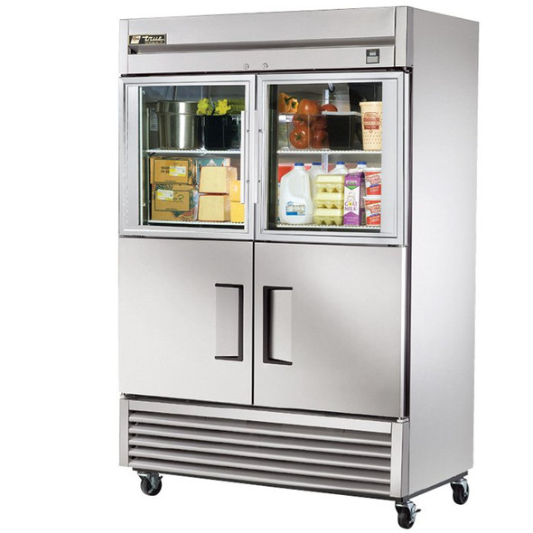 TS-49-2-G-2 True 49 Cu. Ft. SS Refrigerator w/ 4 Half Door Combo