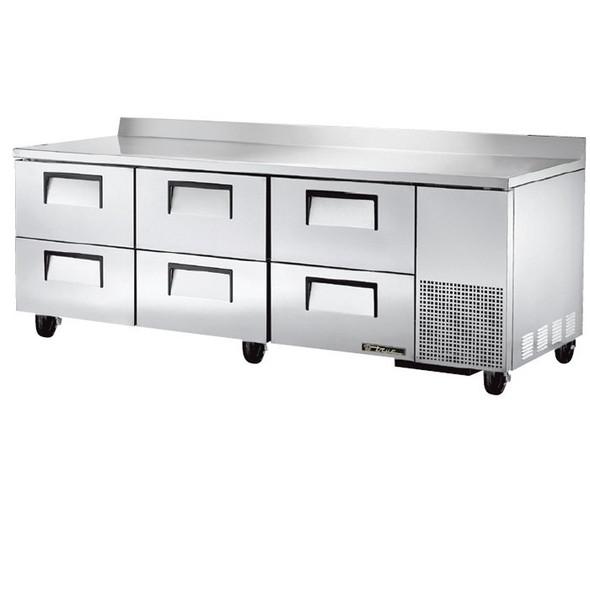 "TWT-93D-6 True 93"" Deep Worktop Refrigerator w/ 6 Drawers"