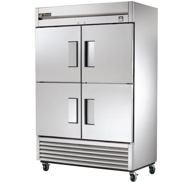 TS-49-4 True 49 Cu. Ft. SS Refrigerator w/ 4 Solid Half Doors