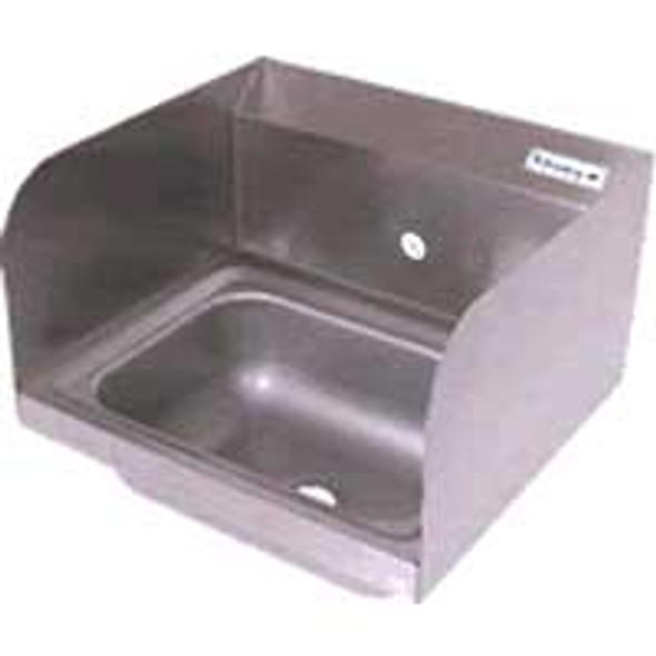 BK Resources BKHS-W-1410-1-SS - 1-Hole Wall Hand Sink w/Side Splashes