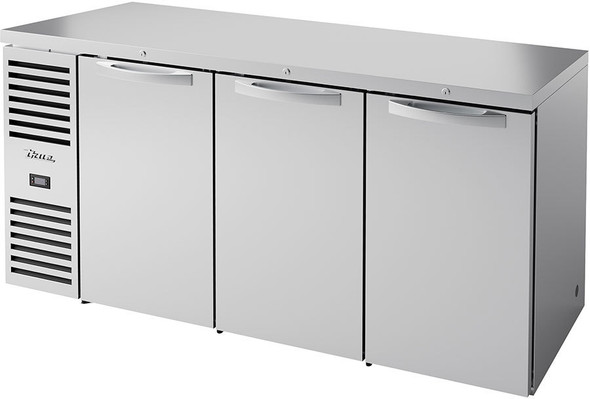 True's TBR72-RISZ1-L-S-SSS-1 Food-Rated Back Bar Cooler sitting on a white background