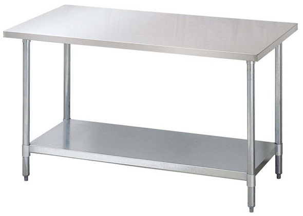 "60"" x 30"" All-Stainless Steel Work Table"