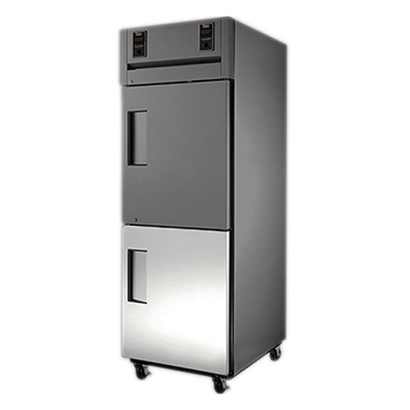 Image of the True 941240 door assembly installed on a True unit