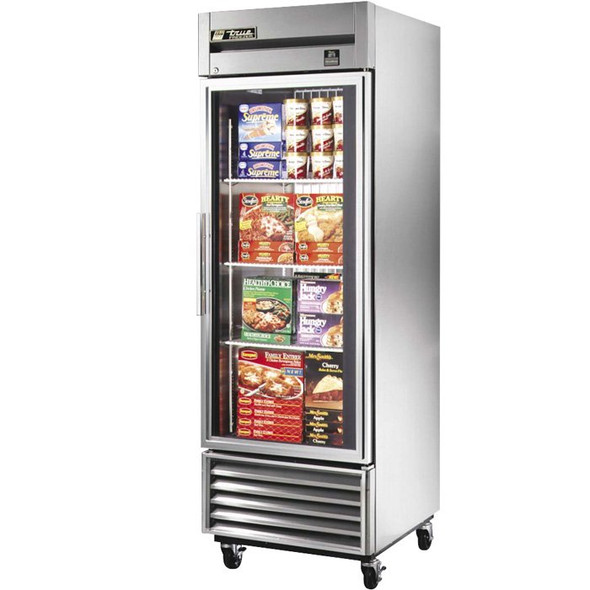 TS-23FG True 23 Cu. Ft. Glass Door Stainless Steel Freezer