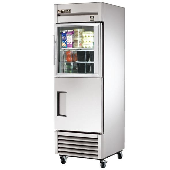 TS-23-1-G-1 True 23 Cu. Ft. SS Refrigerator w/ 2 Half Door Combo