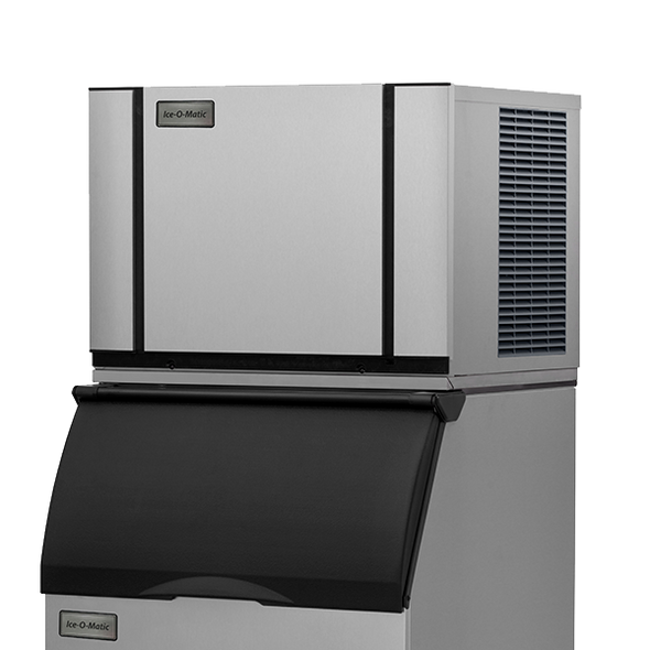 Ice-O-Matic Elevation Series CIM0430FA 420 lbs./day Modular Cube Ice Maker - Air Cooled with Ice-O-Matic ice storage bin