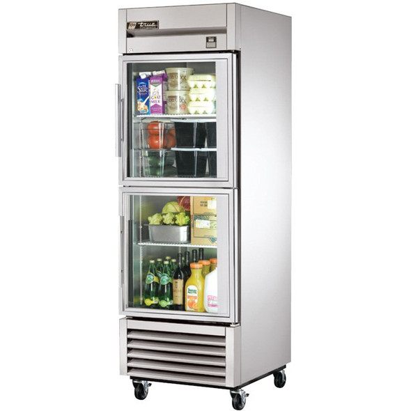 TS-23G-2 True 23 Cu. Ft. SS Refrigerator w/ 2 Glass Half Doors