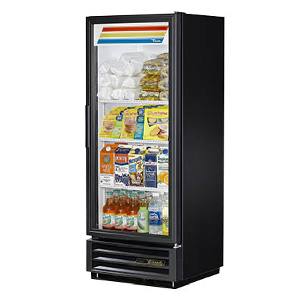 True GDM-12-HC-LD Glass Swing Door Merchandising Cooler