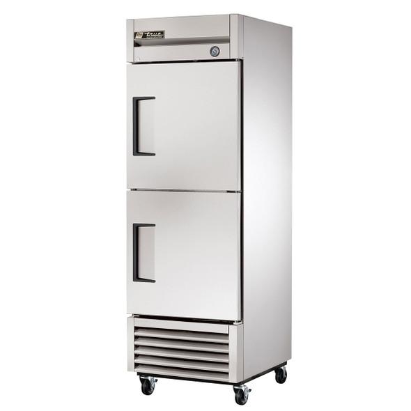 True T-23-2-HC 23 Cu. Ft. Refrigerator 2 Solid Half Doors with Hydrocarbon Refrigerant