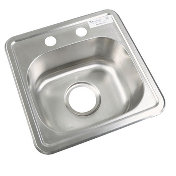 "BK Resources BK-DIS-1515-P-G Lead Free Drop-In Sink 12"" x 10"""