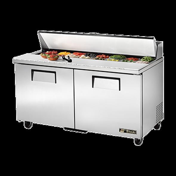 "TSSU-60-16-HC True 60"" 16 Bin Sandwich/Salad Prep Table"