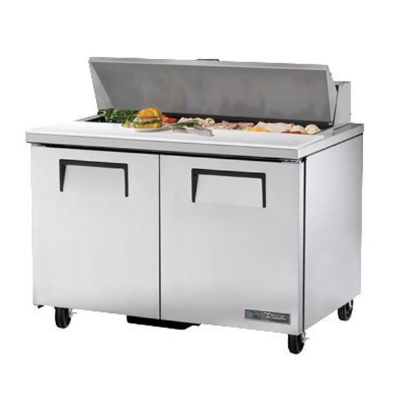 "True TSSU-48-12-HC - 48"" 12 Bin Sandwich/Salad Prep Table"