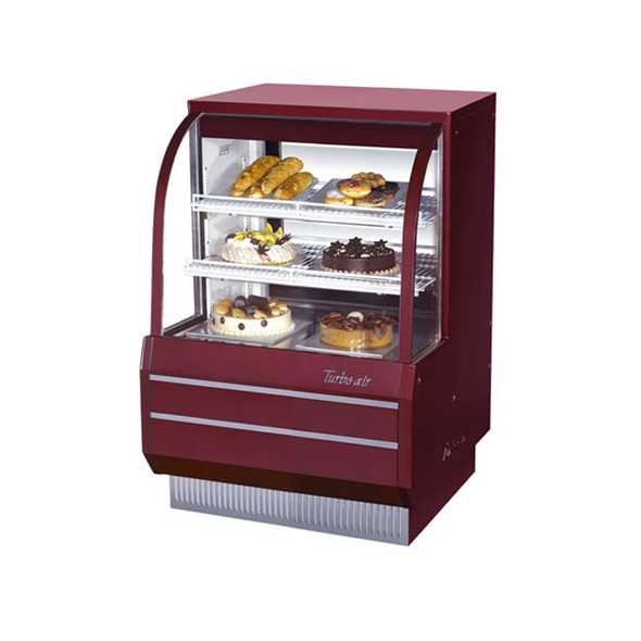 "36"" Non-Refrigerated Curved Glass Bakery Cases - Turbo Air TCGB-36-DR"