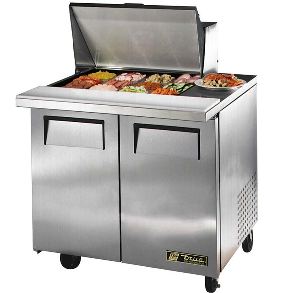 "TSSU-36-12M-B True 36"" 12 Bin Sandwich/Salad Prep Table"