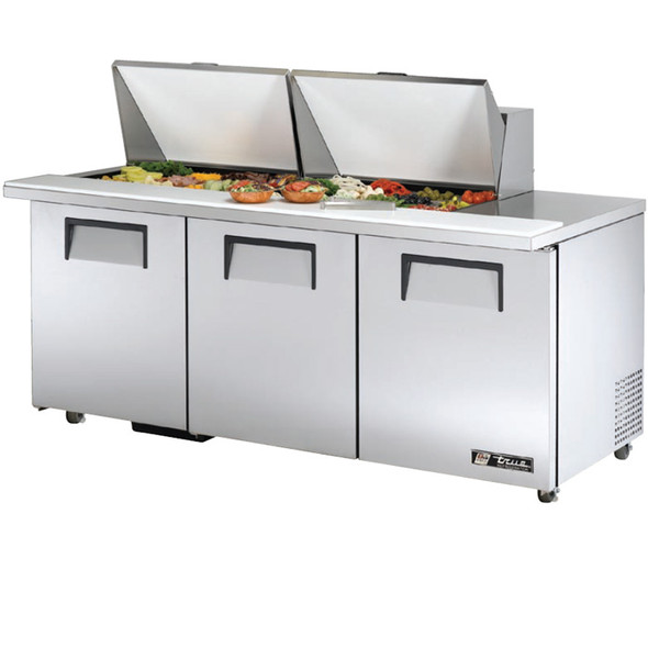 "TSSU-72-24M-B-ST-ADA True 72"" 24 Bin Sandwich/Salad Prep Table"