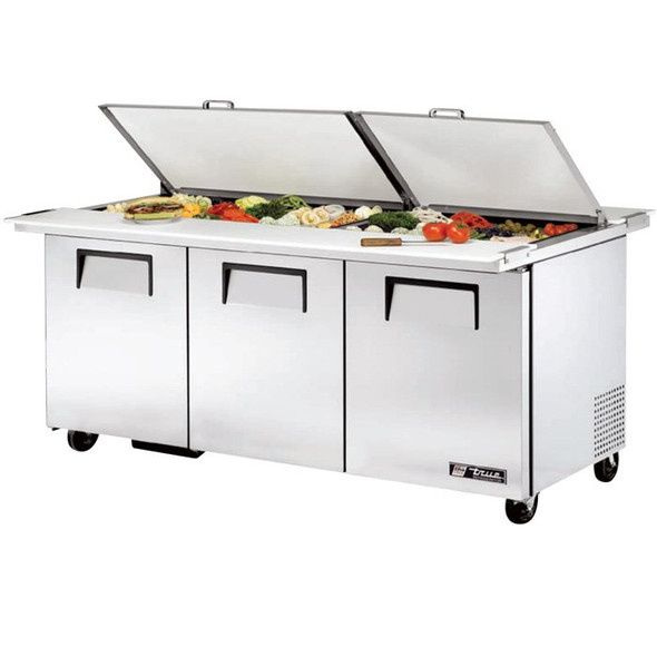 TSSU-72-30M-B-DS-ST 30 Bin Dual Sided Sandwich/Salad Prep Table