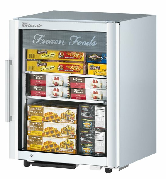 Turbo Air TGF-5SDW-N 4.45 cu. ft. Countertop Glass Door Merchandising Freezer