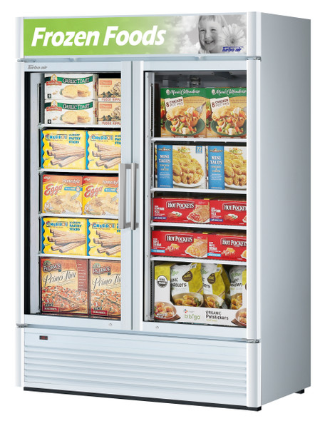 Turbo Air TGF-47SDW-N 39 cu. ft. Glass Door Merchandising Freezer White