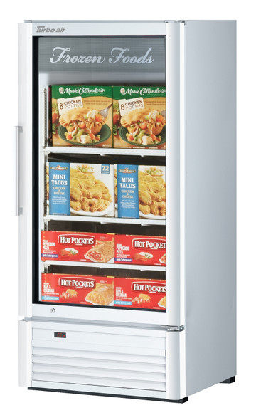 Turbo Air TGF-10SDW-N 7.92 cu. ft. Glass Door Merchandising Freezer
