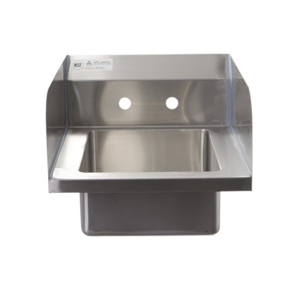 Atlantic Metalworks HS-1210-5-SS Wall Mounted 2 Hole Hand Sink