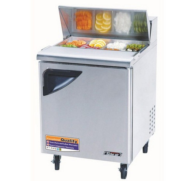 "28"" 6 Bin Super Deluxe Sandwich/Salad Prep Table - Turbo Air TST-28SD"