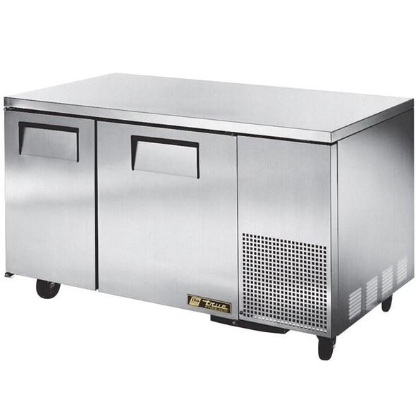 """TUC-60-32F-HC True 60"""" 2 Door Deep Undercounter Freezer"""