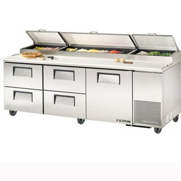 "TPP-93D-4 True 93"" Pizza Prep Table w/ 4 Drawers"