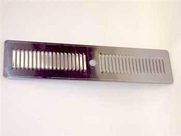 Image of the spillover grate in the True 873112 spillover grate kit